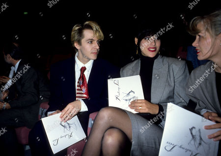 Antony Price Fashion Show Nick Rhodes with His Wife Julie Anne Friedman