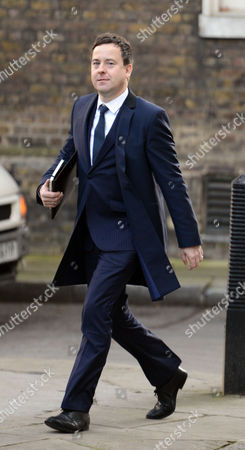 Stock Image of Arrivals For National Newspapers Editors at Number 10 Downing Street Westminster London Editor of the Sun Dominic Mohan