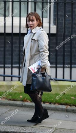 Arrivals For National Newspapers Editors at Number 10 Downing Street Westminster London Sarah Sands Evening Standard