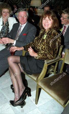 Bafta Nominations at the Waldorf Hotel Diana Rigg with Michael Aspel and His Wife Elizabeth Power