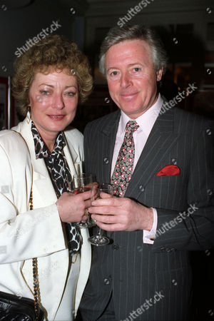 Bafta Nominations at the Waldorf Hotel Michael Aspel with His Wife Elizabeth Power