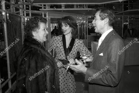 Stock Image of Foyles Lunch at the Dorchester Hotel Dirk Bogarde with Charlotte Rampling