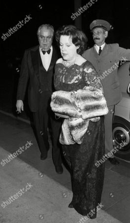Frank Sinatra Party at the Savoy Hotel Cubby Broccoli with His Wife Dana