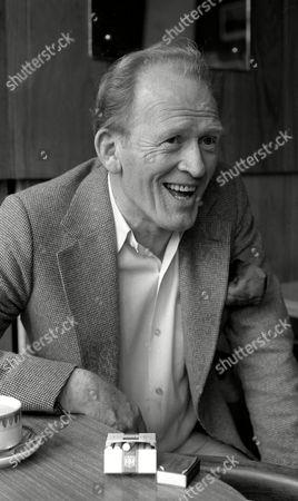 Gordon Jackson During A Break From Rehearsals at Wimbledon Theatre