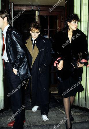 Nick and Julie Anne Rhodes (friedman)leave Langan's Brasserie Mayfair