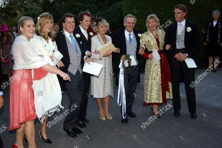The Wedding of Luke Irwin & Alice Elliot (niece of Camilla Parker-bowles) at Stourpaine Dorset Uk Following the Service the Wedding Party Walked From the Church to the Elliot Family Home Were the Reception Was Held in A Marquee in the Garden Camilla Parker-bowles Walks Back to the Family Home with Members of Her Family Daughter Laura Parker-bowles Neice Katie Elliott Camilla Brother Mark Shand Brother in Law Simon Elliott Sister Annabel Elliott & Newphew Ben Elliott