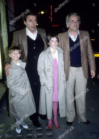 1982 Outside Langan's Brasserie Mayfair Richard Gregson with His Daughter by Natalie Wood Natasha Gregson (12) and Robert Wagner with His Daughter by Natalie Wood Courtney Wagner (8)