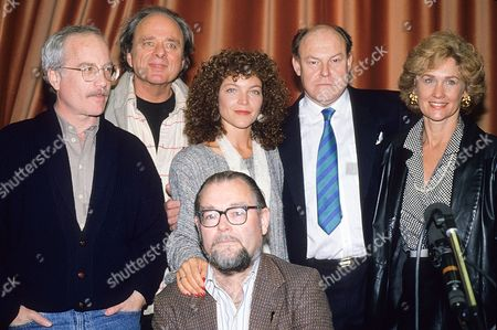Photocall For the Bbc Radio Dramatisation of 'The Price' at the Bbc Studios Richard Dreyfuss Harris Yulin Amy Irving and Timothy West