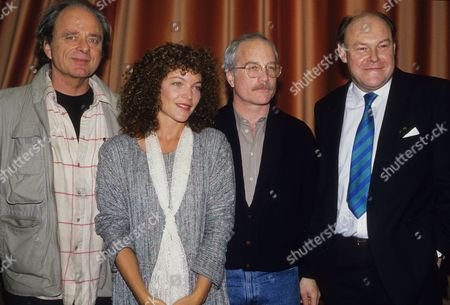 Photocall For the Bbc Radio Dramatisation of 'The Price' at the Bbc Studios Harris Yulin Amy Irving Richard Dreyfuss and Timothy West