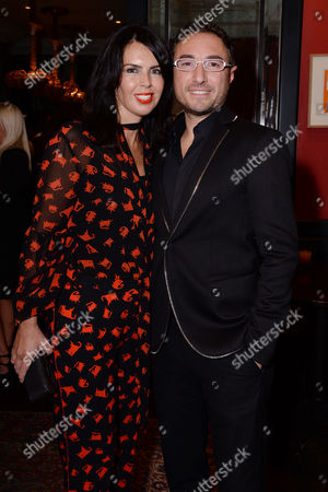 Stock Picture of London UK 28th Sept 2016: Vincent Simone and Susan Duddy? at the Press Night Afterparty for 'The Last Tango' at L'escargot, September 28, 2016 London UK