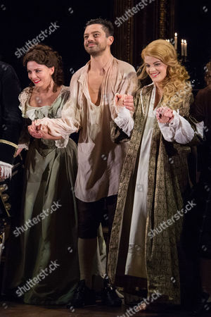 London UK 27th Sept 2016: Ophelia Lovibond, Dominic Cooper and Alice Bailey Johnson During the Press Night of 'The Libertine' at the Theatre Royal Haymarket and Afterparty at the Haymarket Hotel, London On the September 27, 2016 London UK