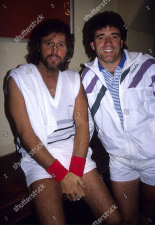 Pro-tennis Celebrity Match at the Royal Albert Hall Barry Gibb (bee Gees) with Kevin Keegan