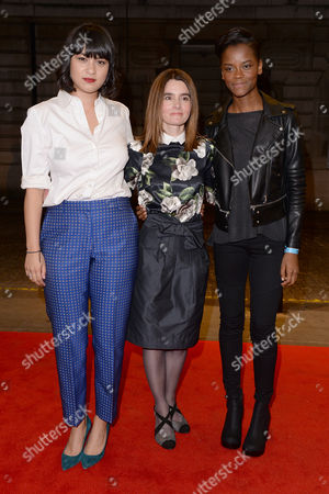 London UK 27th Sept 2016: Isabella Laughland, Shirley Henderson and Letitia Wright Attend the Premiere of 'urban Hymn' at the Curzon Mayfair, London On the September 27, 2016 London UK