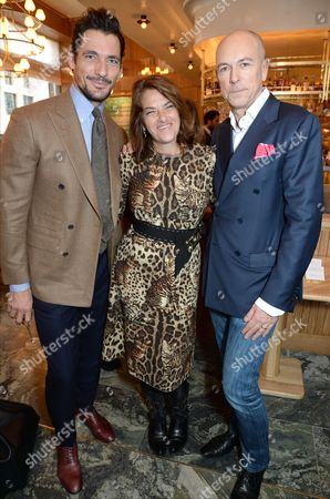 David Gandy, Tracey Emin and Dylan Jones