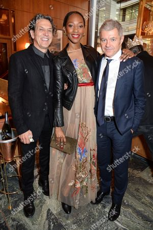 Stock Photo of Stephen Webster, Vanessa Kingori and Alan Edwards