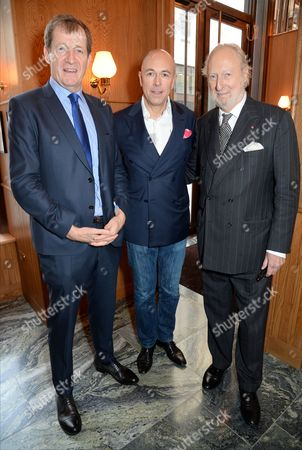 Stock Picture of Alastair Campbell, Dylan Jones and Ed Victor