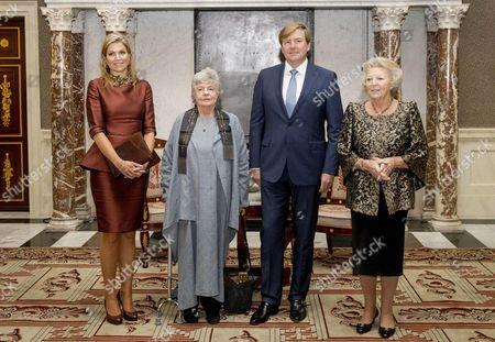 Queen Maxima, Dame Antonia Susan Byatt, King Willem-Alexander and Princess Beatrix