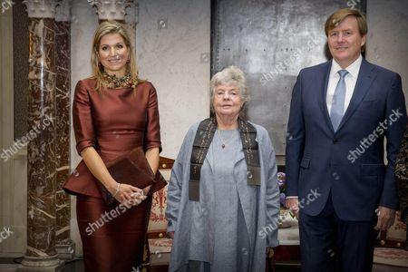 Queen Maxima, Dame Antonia Susan Byatt and King Willem-Alexander