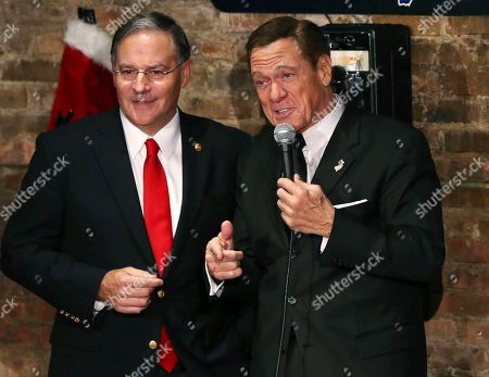 Jon Bramnick, Joe Piscopo New Jersey Assembly Republican Leader Jon Bramnick, left, R-Union, N.J., stands on stage with actor, comedian and radio host Joe Piscopo during a comedy event to help raise funds for the Boys and Girls Club of America at the Stress Factory Comedy Club, in New Brunswick, N.J. Piscopo is serious when he says he's considering a run for New Jersey governor in 2017. He says he's been meeting with Republican county officials and lawmakers to feel out his prospects