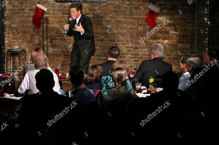 Actor, comedian and radio host Joe Piscopo does a comedy routine during an event to help raise funds for the Boys and Girls Club of America at the Stress Factory Comedy Club, in New Brunswick, N.J. Piscopo is serious when he says he's considering a run for New Jersey governor in 2017. He says he's been meeting with Republican county officials and lawmakers to feel out his prospects