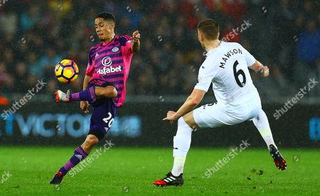Editorial image of Football - Premier League 2016/17 Swansea City v Sunderland Liberty Stadium, Landore, Swansea, United Kingdom - 10 Dec 2016