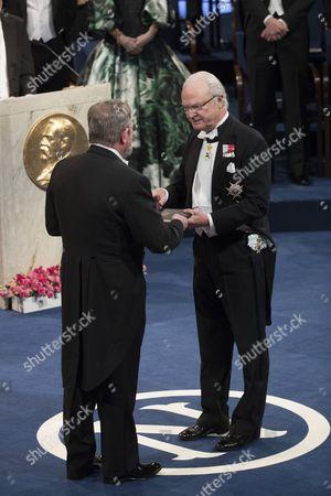 Editorial picture of Nobel Prize Award Ceremony, Stockholm Concert Hall, Sweden - 10 Dec 2016