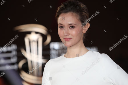 Stock Image of France's Constance Rousseau attends the closing ceremony of the 16th Marrakech International Film Festival in Marrakech, Morocco