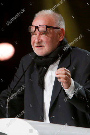 Jury president Bela Tarr attends the closing ceremony of the the 16th Marrakech International Film Festival in Marrakech, Morocco