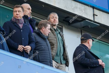 Stock Photo of Chelsea owner Roman Abramovich during the Premier League match between Chelsea v West Bromwich Albion played at Stamford Bridge Stadium, London on 11th December 2016