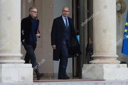 French Minister of State for Relations with Parliament, Andre Vallini and French European Affairs Junior minister, Harlem Desir