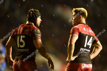 Leigh Halfpenny and James O?Connor of Toulon.