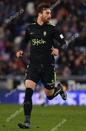 Fernando Amorebieta of Sporting de Gijon runs during the La Liga match between RCD Espanyol and Sporting de Gijon played at the RCD Espanyol Stadium, Barcelona, Spain on 11th December 2016.