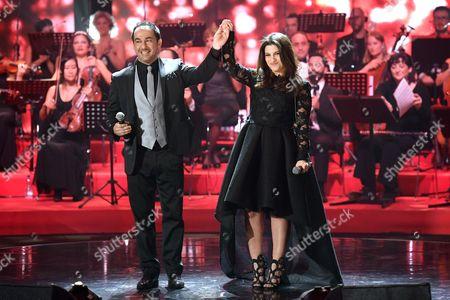 Stock Image of Piero Mazzocchetti and Deborah Iurato