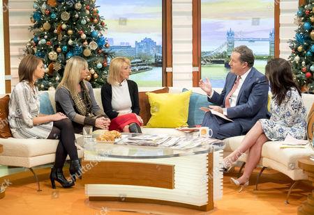 Leighanna Needham, Christine Needham and Kerry Needham, Piers Morgan, Susanna Reid