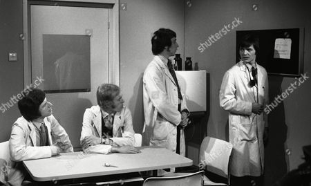 George Layton (as Paul Collier), Geoffrey Davies (as Dick Stuart-Clark), Robin Nedwell (as Duncan Waring) and Barry Evans (as Michael Upton) (Season Two, Episode 2 'What Seems to be the Trouble', 17th April 1970)