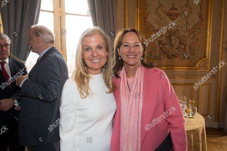 Ambassador of USA in France, Jane D. Hartley and French Minister of Ecology Segolene Royal