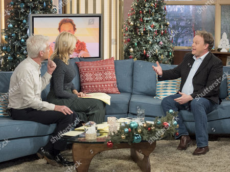 Phillip Schofield and Holly Willoughby with Justin Fletcher MBE