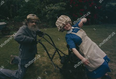 David Jason (as Dithers) with Mary Baxter (as Cook)
