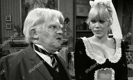Moira Foot (as Effie the maid) with Ronnie Barker (as Lord Rustless)