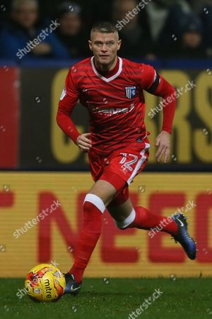 Paul Konchesky of Gillingham during the Sky Bet League One match between Bolton Wanderers and Gillingham played at the Macron Stadium, Bolton on 12th December 2016