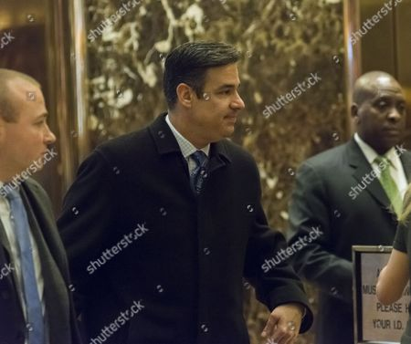 United States Representative Raul Labrador (Republican of Idaho) is seen waiting for an elevator in the lobby of Trump Tower