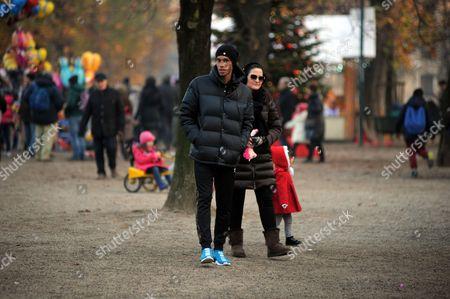 Stock Photo of Joao Miranda de Souza and wife Jacqueline