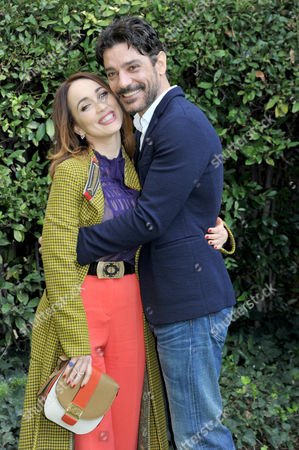 Stock Picture of Chiara Francini and Giuseppe Zeno