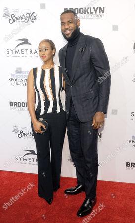 Savannah Brinson and LeBron James