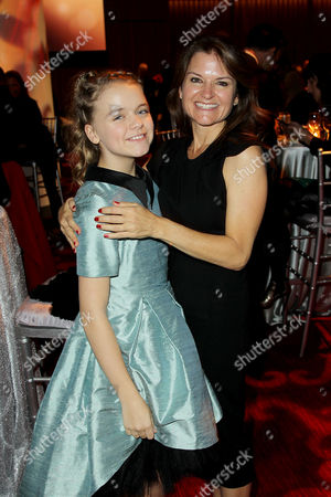 Kylie Rogers with Mom