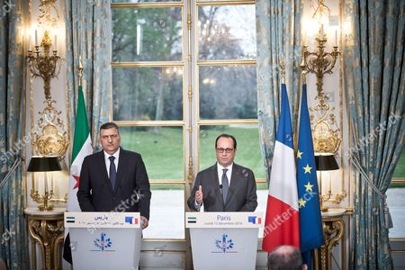 Riyad Hijab (General Coordinator of the Syrian Opposition High Committee) and Francois Hollande