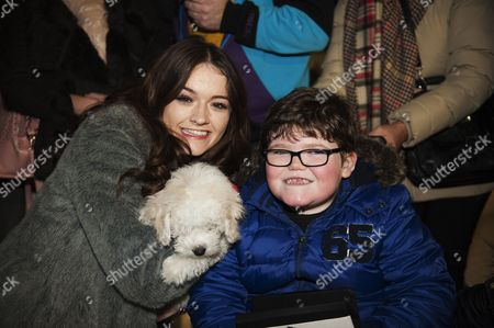 Emily Middlemas with dog Brodie and Arran Hunter, 7