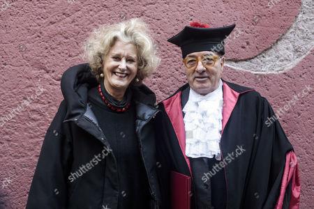 Stock Image of Gabriella Pescucci with Dante Ferretti