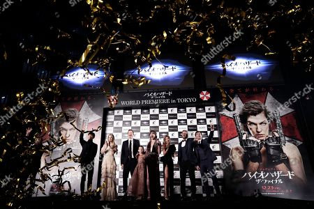 Resident Evil: The Final World Premiere Red Carpet with Lee Joon Gi, Ali Larter, Director Paul W.S. Anderson, Ever Anderson, Milla Jovovich, Rola, William Levy, and Eoin Macken on in Tokyo