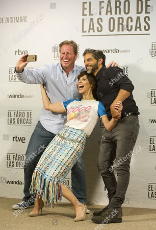 Spanish actress Maribel Verdu, Spanish director Gerardo Olivares and Argentinian actor Joaquin Furriel